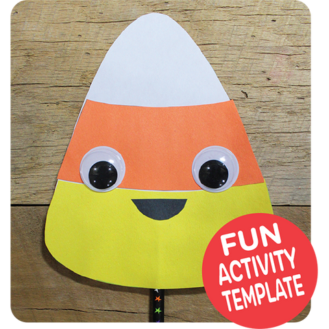 Candy Corn Puppet Craft Downloadable Template