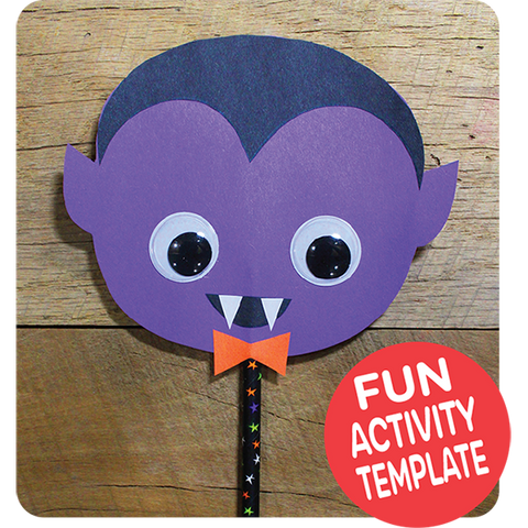 Dracula Puppet Craft Downloadable Template