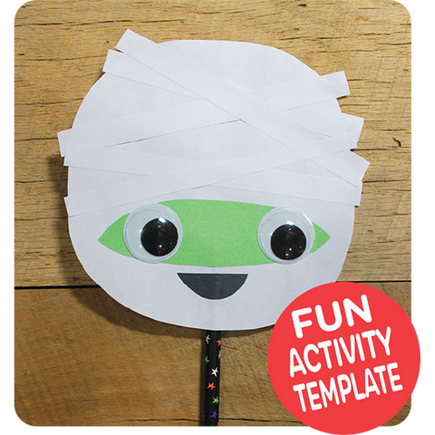 Mummy Puppet Craft Downloadable Template