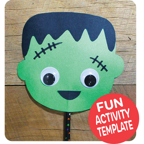 Frankenstein Puppet Craft Downloadable Template