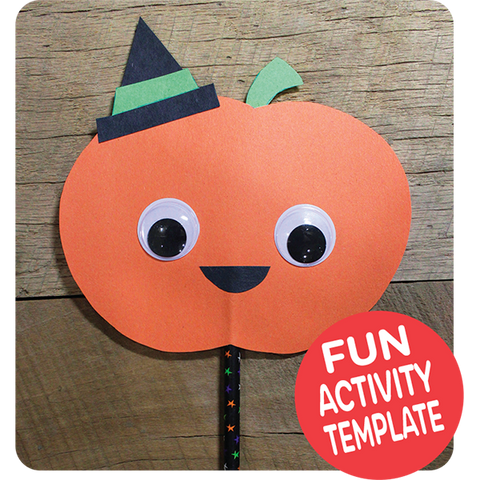 Pumpkin Puppet Craft Downloadable Template
