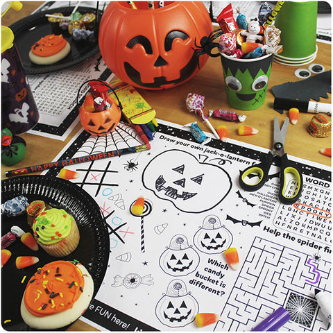 Halloween Party Activity Placemat Downloadable Template
