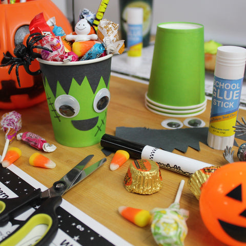 Frankenstein Treat Cup Craft Downloadable Template