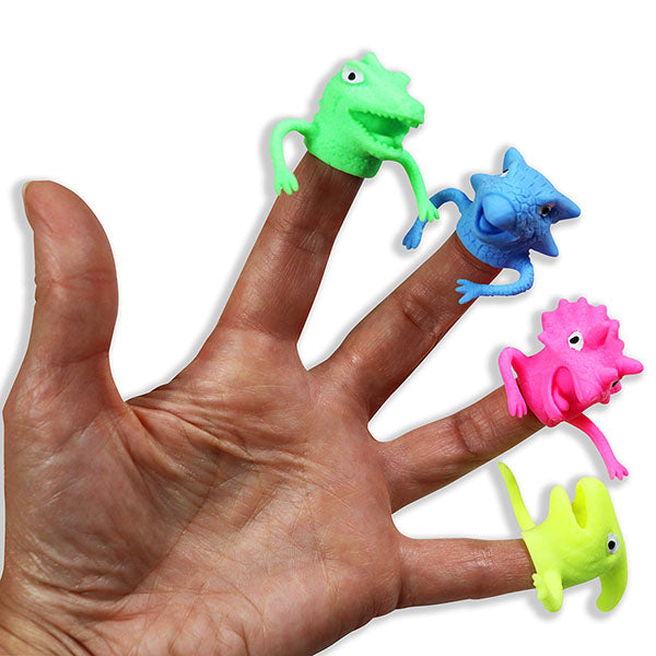 Colorful Dino Finger Puppets