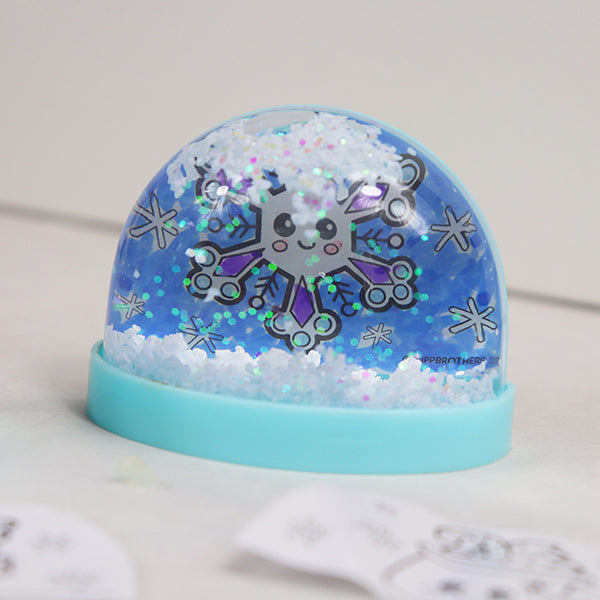 DIY Snow Globe Magnet Kit - Blue