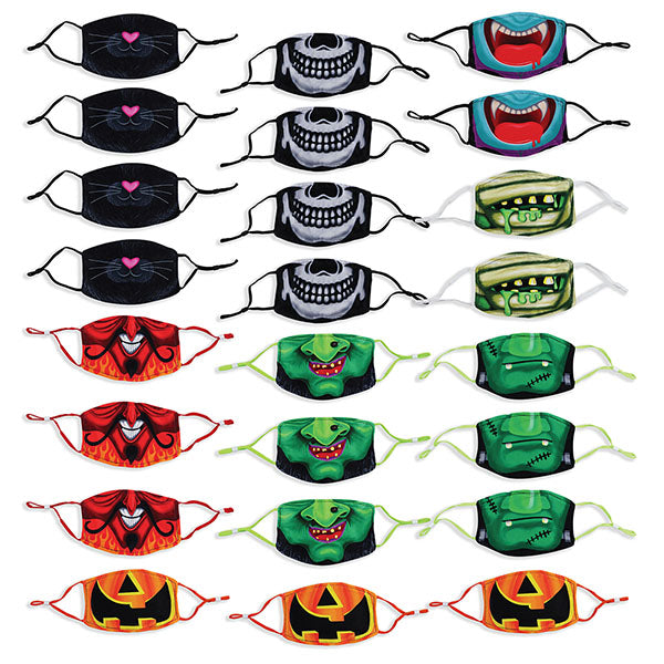 Halloween Childrens Polyester Mask - 24 Pack