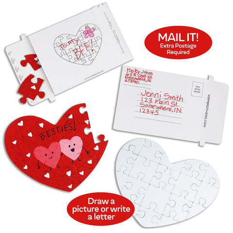 DIY Heart Puzzles with Mailer