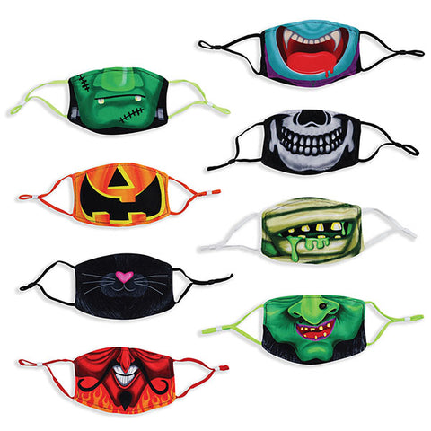 Halloween Childrens Polyester Mask - 8 Pack
