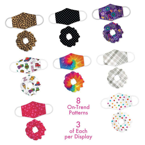 Child Size Mask & Scrunchie Set - 24 Pack