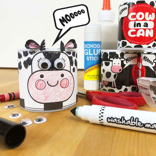 MOO COW Craft Wrap Downloadable Template