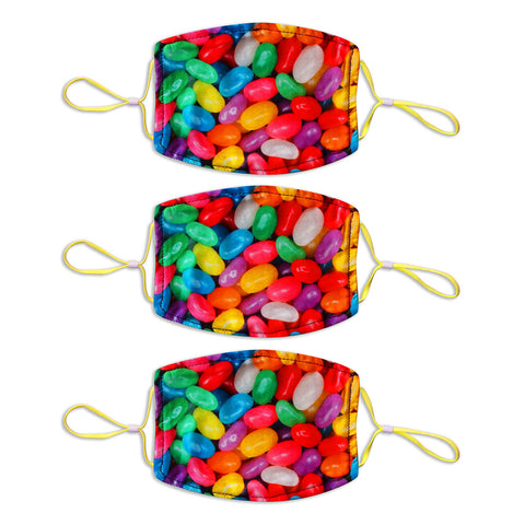 Adult Printed Spring Mask 3 Pack - Jelly Bean