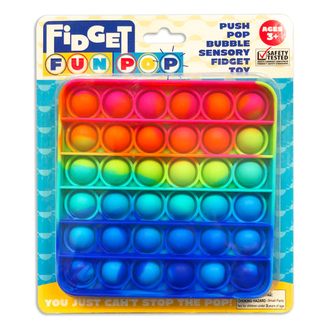 Fidget Fun Pop - Rainbow Square