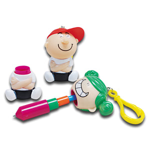 Boy & Girl Pen Keychains