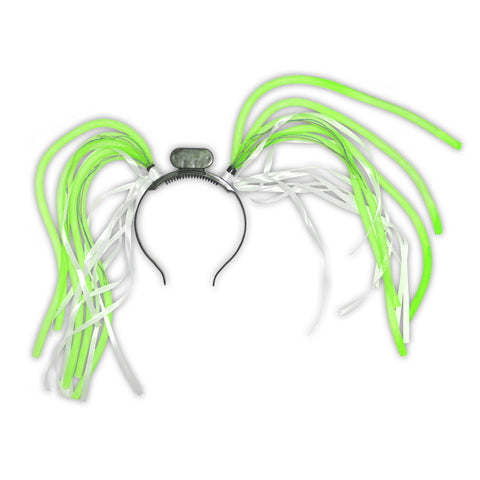 Green Light-Up Tentacle Headband