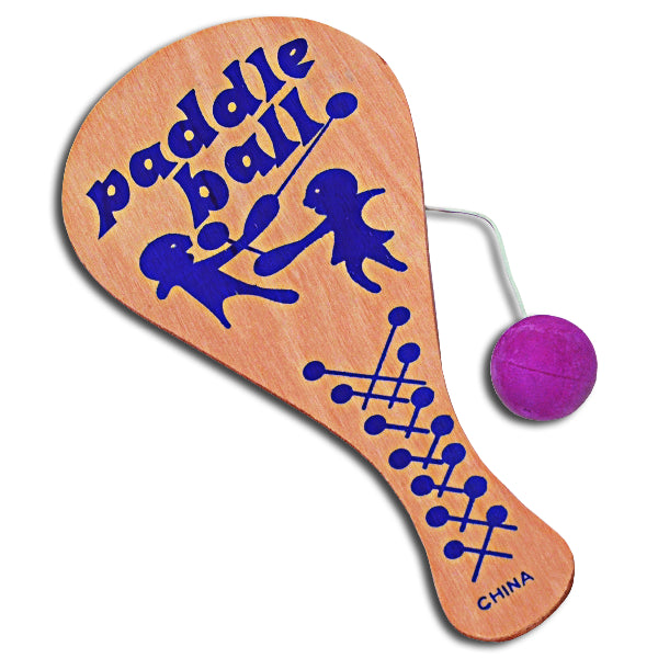 Classic Wooden Paddle Balls