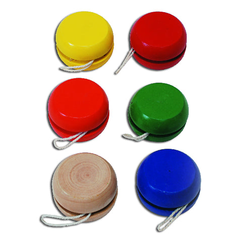 Bright Colored Wooden Yo-Yos