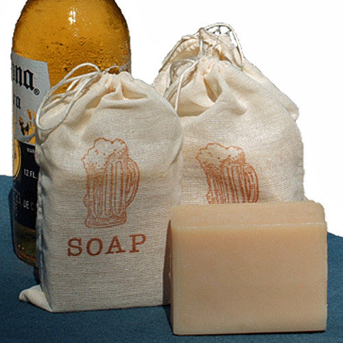 Handmade Blonde Soap made with Corona Beer in muslin bag