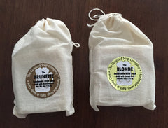 Handmade Brunette and Blonde Soap made with Guinness or Corona Beer in muslin bags