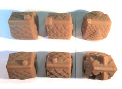 NEW Gingerbread House Handmade Cold Process Soap Bar, large 6.3 oz size, gingerbread house shape - Seasonal Fall or Winter Holiday Scent