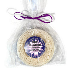 NEW Fields of Lavender Handmade Loofah Soap Bar, 3 oz