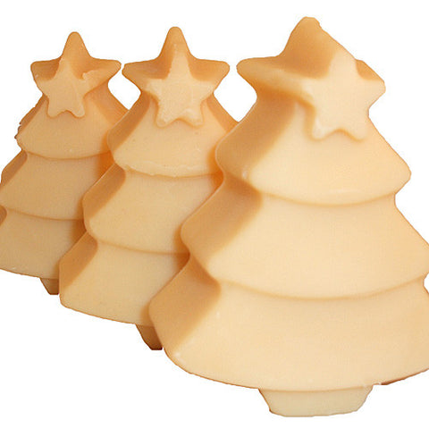 Handmade Mistletoe Soap in shape of a Christmas tree