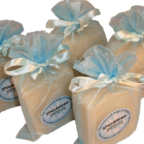 Handmade Spellbound Soap in light blue organza bag