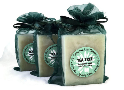 Tea Tree Handmade Cold Process Soap Bar, 4oz