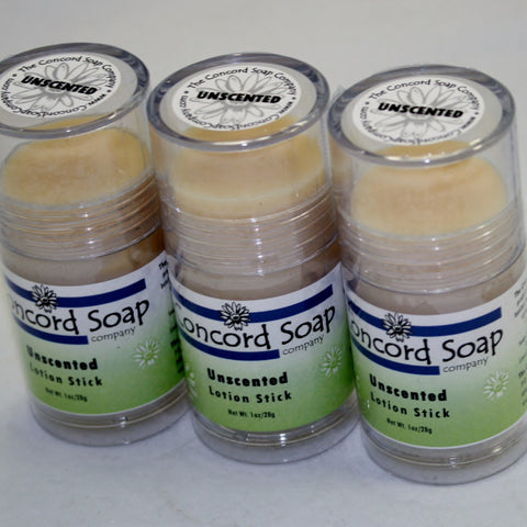 Unscented Handmade Solid Lotion Stick