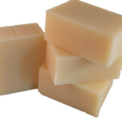 stack of four handmade soap bars