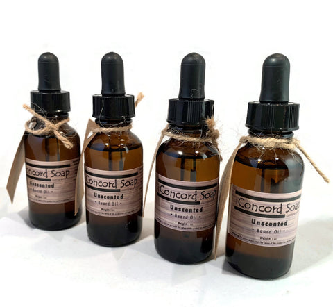 NEW Unscented Handmade Beard Oil - 1 oz, dropper, amber glass bottle