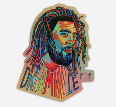 J. Cole Holographic Sticker