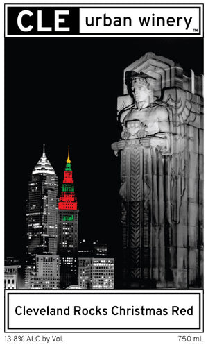 Cleveland Rocks Christmas Red