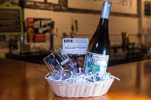 White Wine Gift Baskets with Chocolates