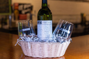 Fruit-Infused Wine Gift Basket with Wine Glasses