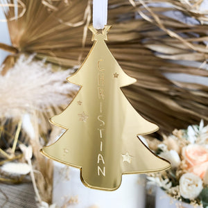 Festive Tree Ornament - Custom Name