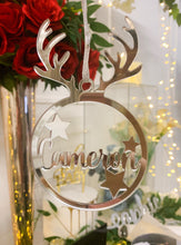 Load image into Gallery viewer, Reindeer Ornament - Custom Name
