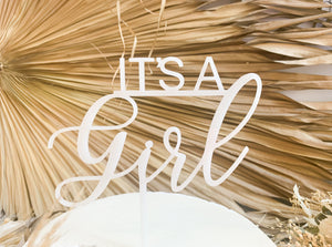 It's A Girl - Cake Topper