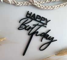 Load image into Gallery viewer, Happy Birthday Cake Topper