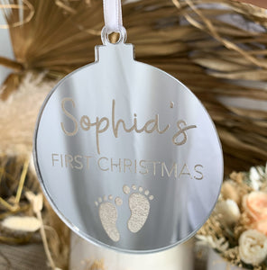 First Christmas Ornament - Custom Name