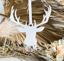 Load image into Gallery viewer, Deer Silhouette Ornament - Custom Name