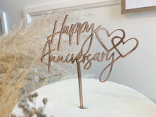 Load image into Gallery viewer, Happy Anniversary Cake Topper