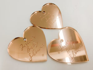 Etched Gift Tag - Heart (12 pcs.)