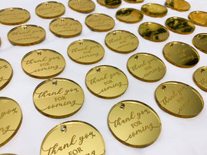 Etched Gift Tag - Round (12 pcs.)