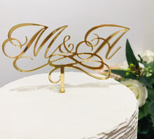 Load image into Gallery viewer, Custom Initials Cake Topper