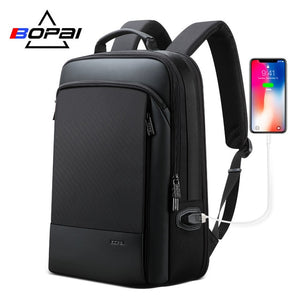 BOPAI Men Backpack Expandable Weekend Travel Backpack Men Water Repellent Laptop Backpack Computer Back Pack Male Bagpack