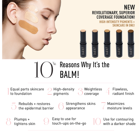 Doll 10 HydraBalm Foundation. 10 Reasons why it's the BALM!