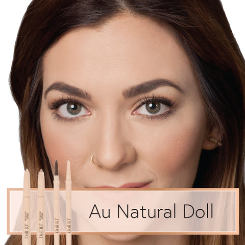 Doll 10 Au Natural Look with HydraLux Shadow Liners and Smoothing Eyeliners