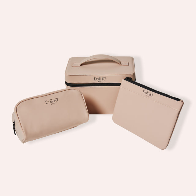 Essential Cosmetic Bag 3-Piece Set