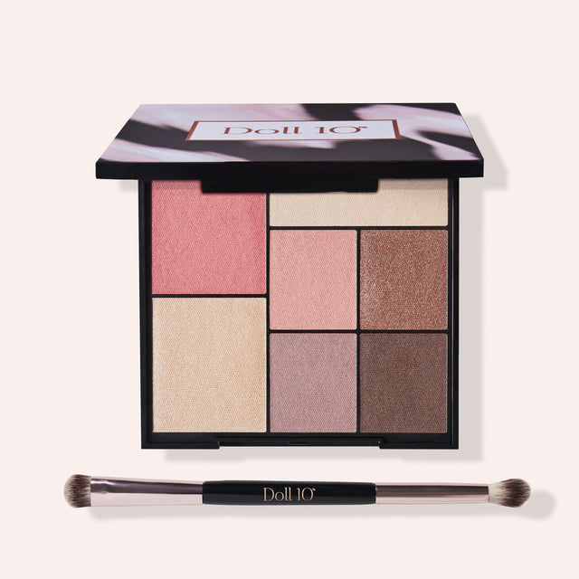 Doll Face and Eye Palette with Brush