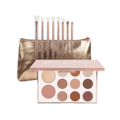 Doll 10 x Makeup Molly Brush Collection & Glam Goddess Face and Eye Palette Collection